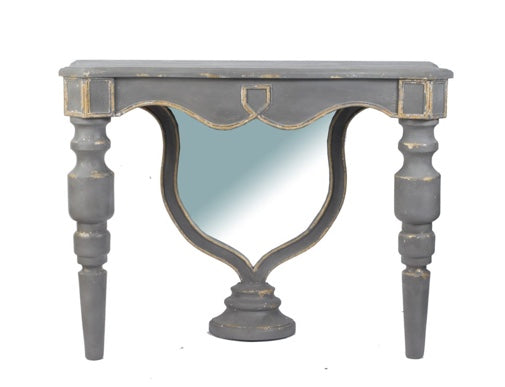 Grey Distressed Console Table