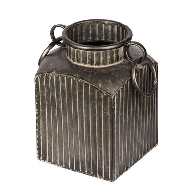 Vintage Grey Metal Pot