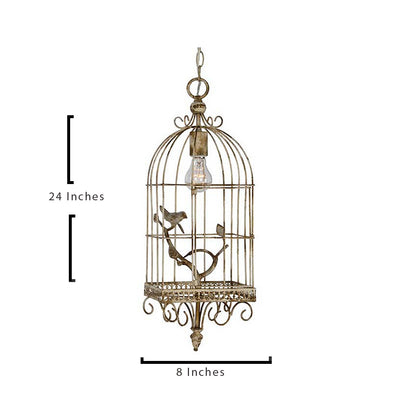 Unique Cream Bird Cage Harrington Light Pendant