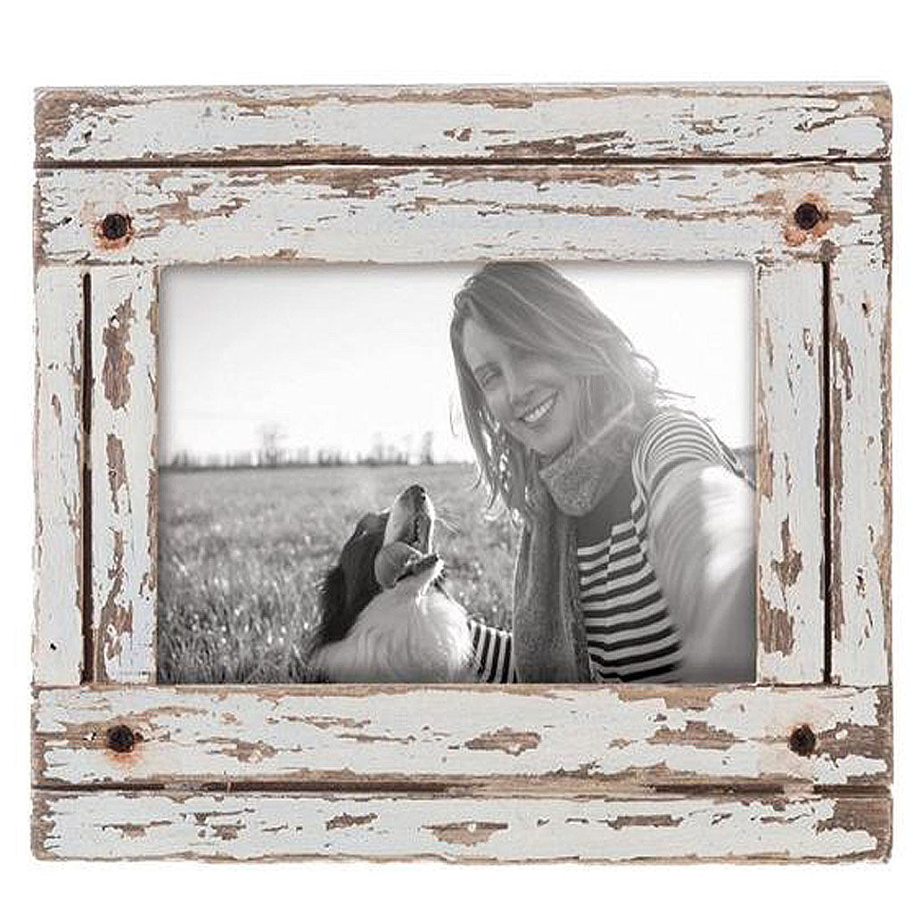 Heartland Photo Frame White Distressed - Molly\'s Marketplace