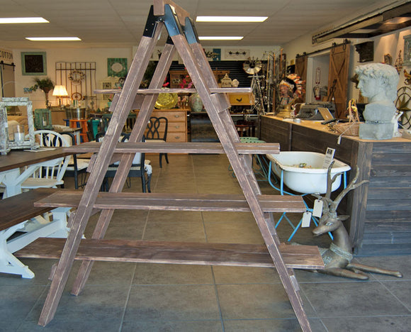 Custom Made Step Ladder Shelf