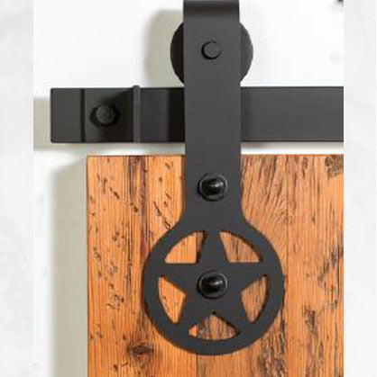 Bi-Parting: Black Ranger Barn Door Track