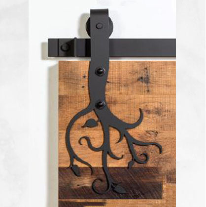 Designer Series: Black Vined Barn Door Track and Hardware