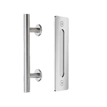 Load image into Gallery viewer, Modern Barn Door Round Handle and Flush Pull