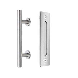 Modern Barn Door Round Handle and Flush Pull