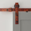 barn door kit, rustic barn door rail, sliding barn door kit in rusty red color