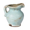 Deep Rich, Pale Turquoise Olde World Style Ceramic Jug