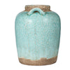 Rich, Pale Turquoise Olde World Style Ceramic Vase
