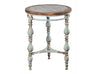 Shabby Chic Metal and Wood Side Table