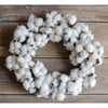 Small Cotton Wreath 12""