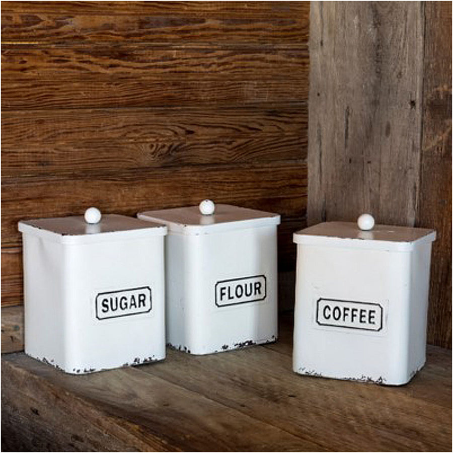 Sugar Flour Coffee Canisters, set of 3 kitchen canisters