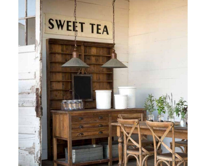 Sweet Tea Embossed Metal Sign