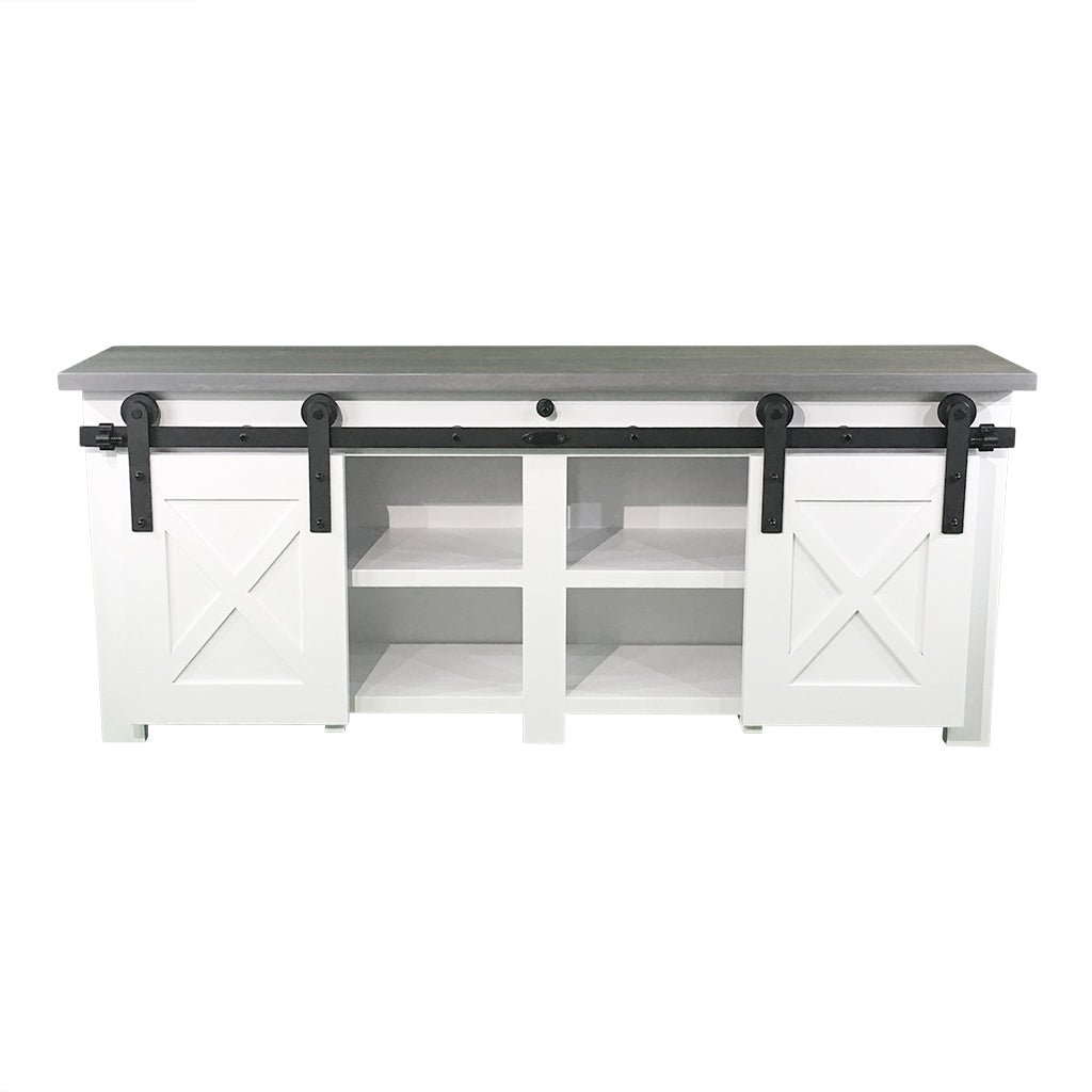 Dale Custom Tv Stand With Barn Doors Molly S Marketplace