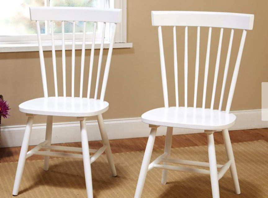 White Farmhouse Wood Chairs