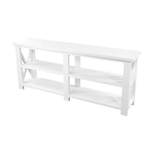 Load image into Gallery viewer, White Farmhouse console table, white farmhouse sofa table, white farmhouse hall table