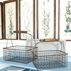 wire bakery shopping storage baskets, set of 2 wire baskets, farmhouse baskets