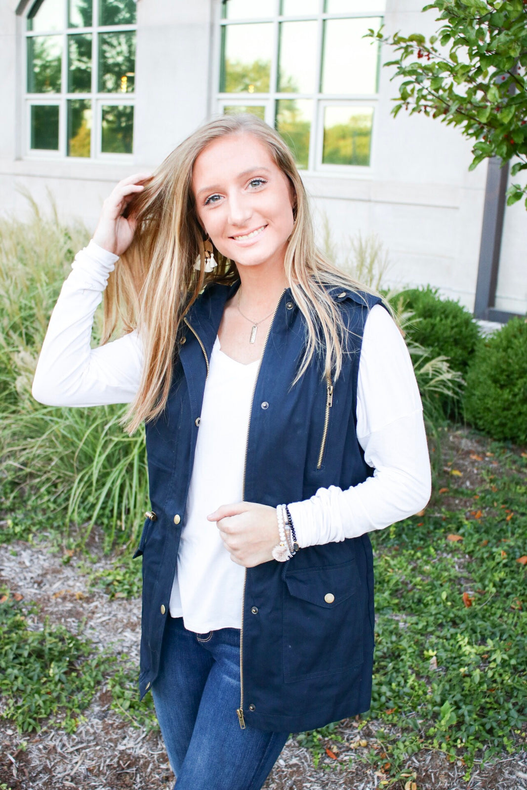 Heart of Gold Navy Vest