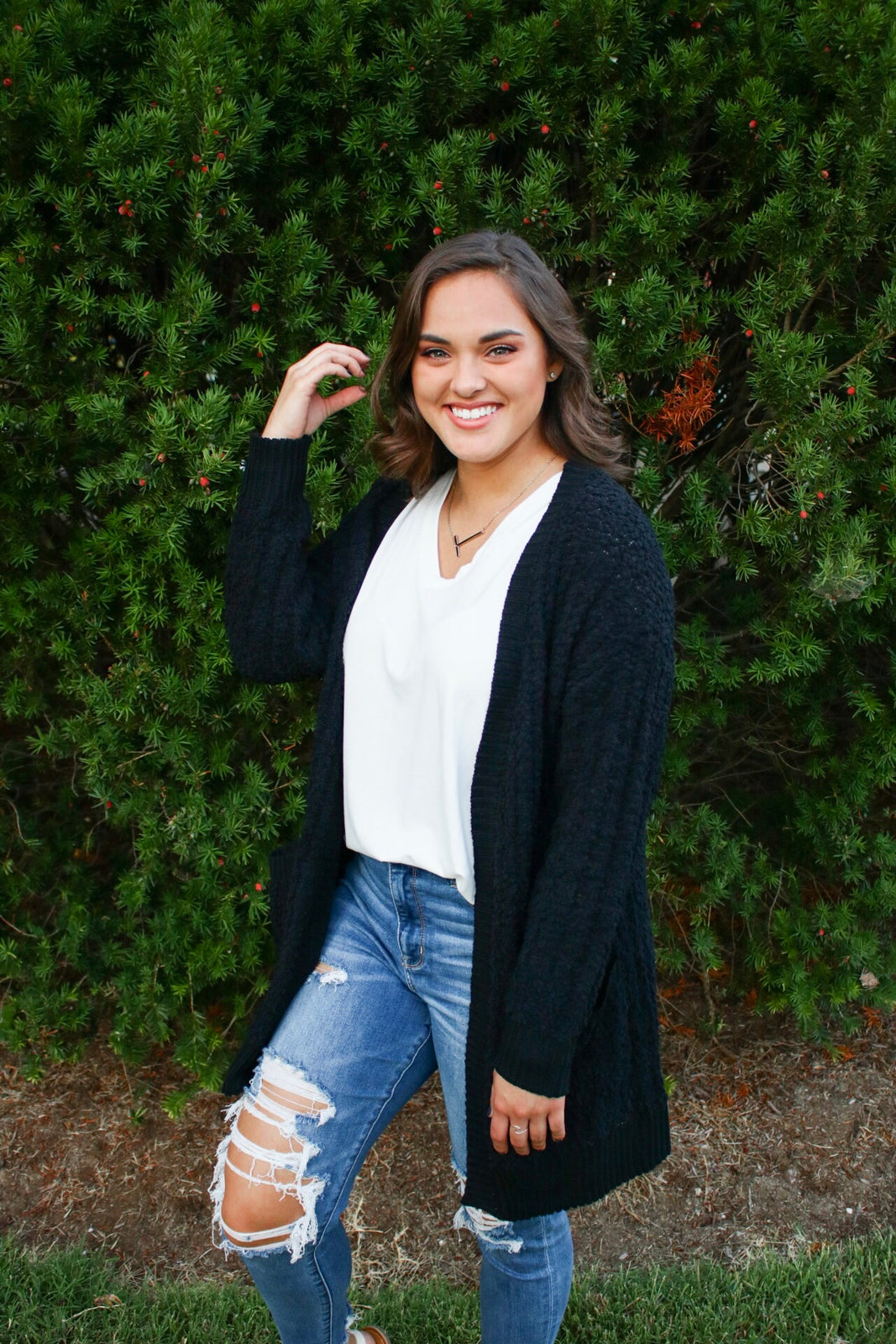 Forever Cozy Days Popcorn Cardigan