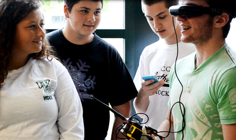 West Deptford high school students working on LocoRobo's First Person View (FPV) technology