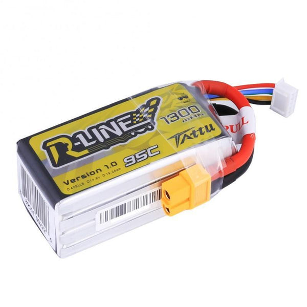 TATTU R-LINE 1300MAH 4S 95C RACING LIPO BATTERY