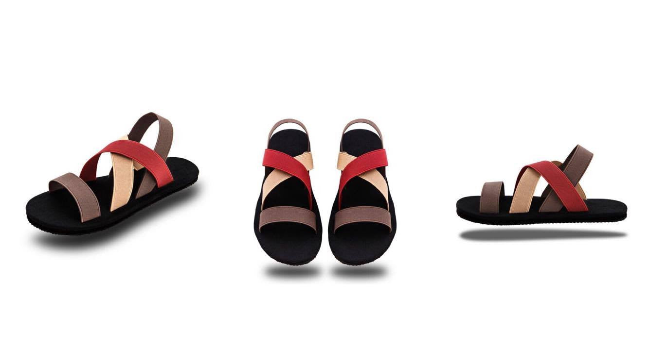 RED SANDALS