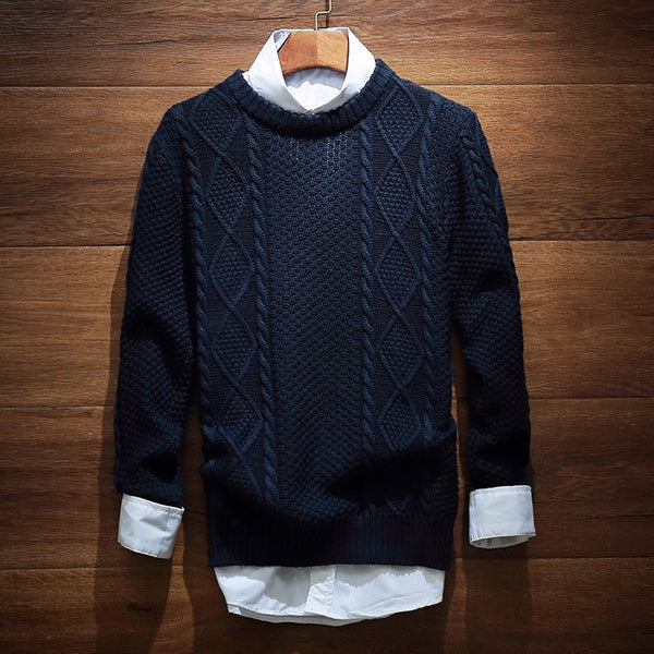 Contemporary Twilled Woolen Sweater