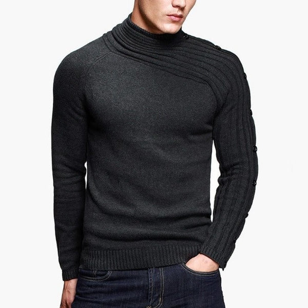 Contemporary Knitted Cross-Sleeved Sweatshirt