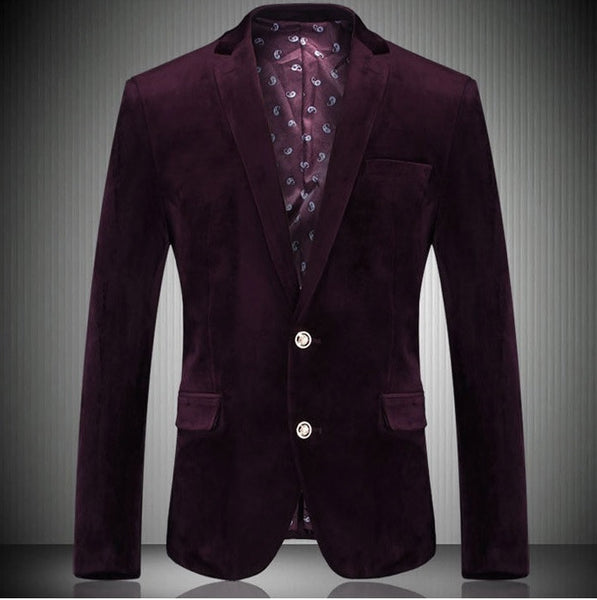 Velvet Style Two-Button Jacket