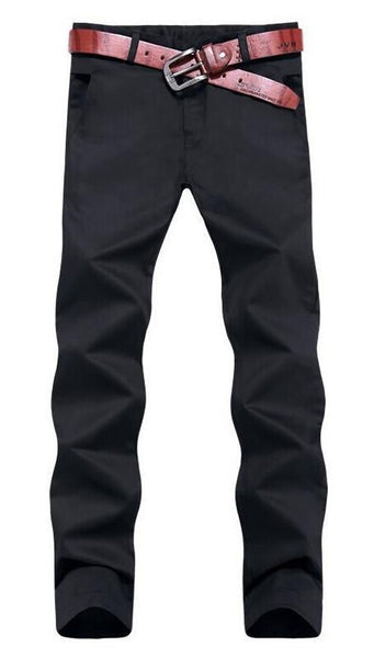 Casual Trimmed Pencil Chinos Style