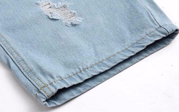 Contemporary Ripped Denim Summer Berms