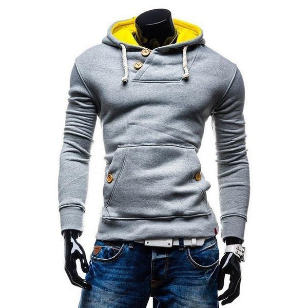 Bi-Colored Hooded Style Pullover