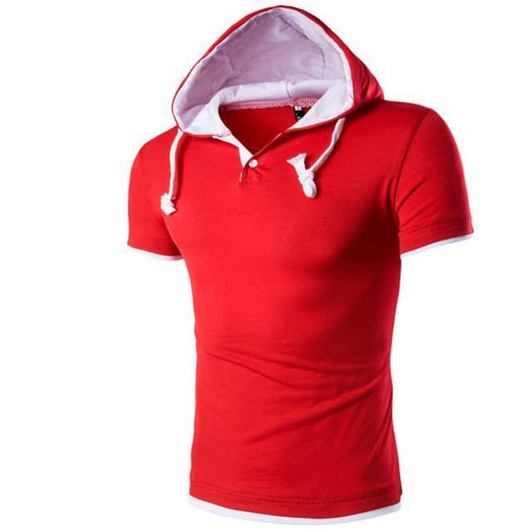 Short Sleeve T Shirt Hooded