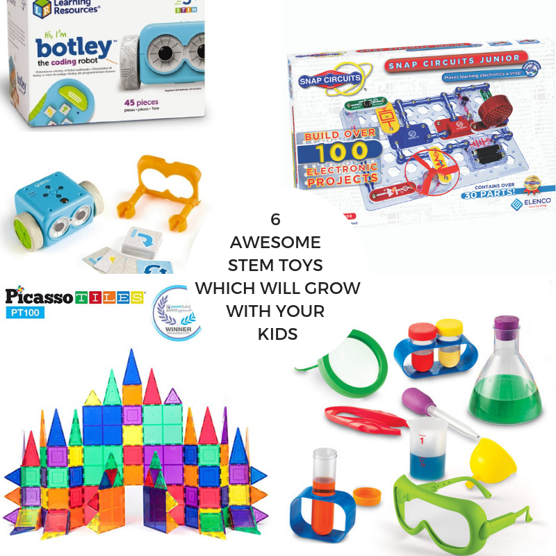 6 Awesome STEM Toys which will Grow with your Kids!