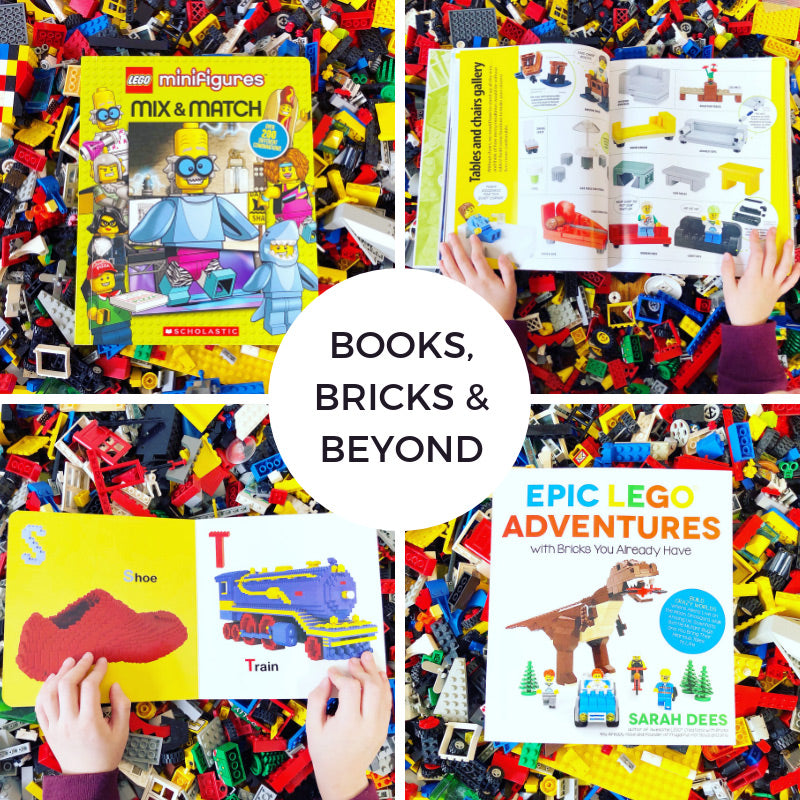 Kids activities with books and legos
