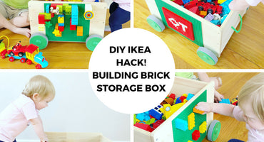 DIY IKEA HACK! Building Brick Storage Box