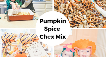 Baking with Toddlers! Pumpkin Spice Chex Mix