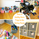 Creative QT Mama: How to Subtly Store Toys in the Living Room