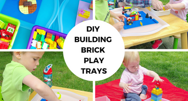 DIY Building Brick Play Trays