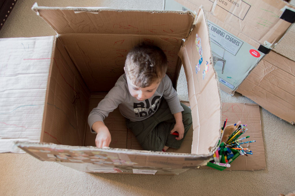 Inspiring Imagination: Playing with a Cardboard Box