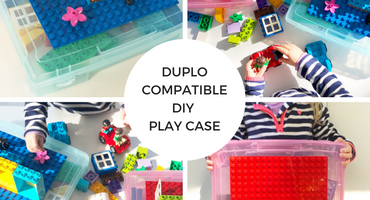 DUPLO Compatible DIY Play Case