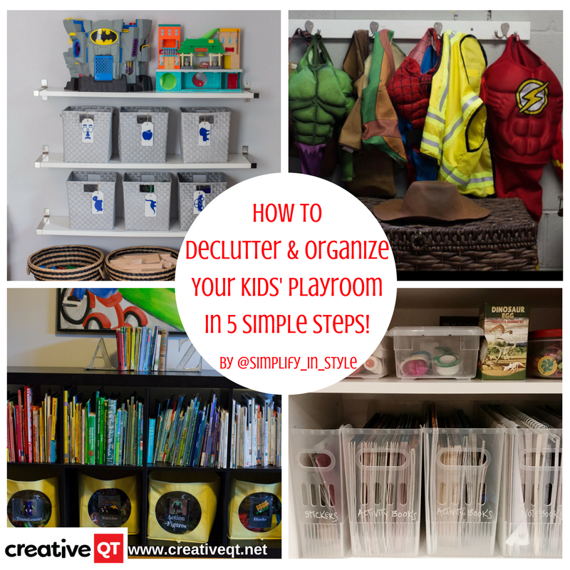 How to Declutter & Organize your Kids' Playroom in 5 Simple Steps!