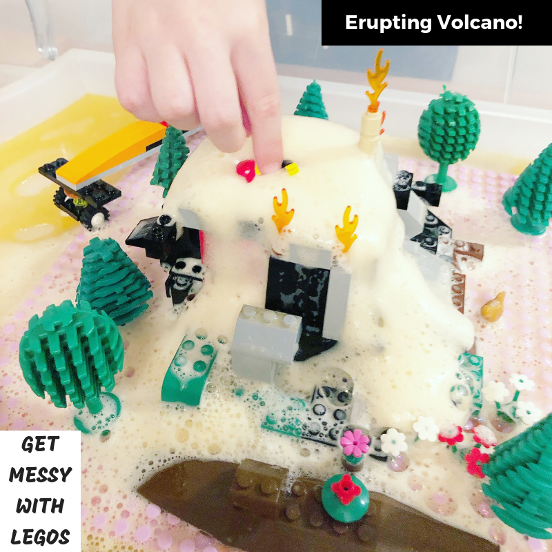 Get Messy with LEGOs: Erupting Volcano