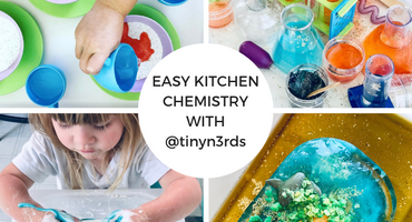 Easy Kitchen Chemistry for Kids with @tinyn3rds