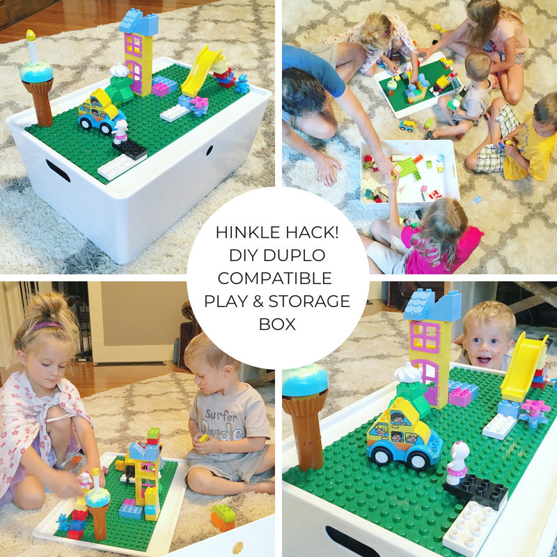 HINKLE HACK! DIY DUPLO Play & Storage Box