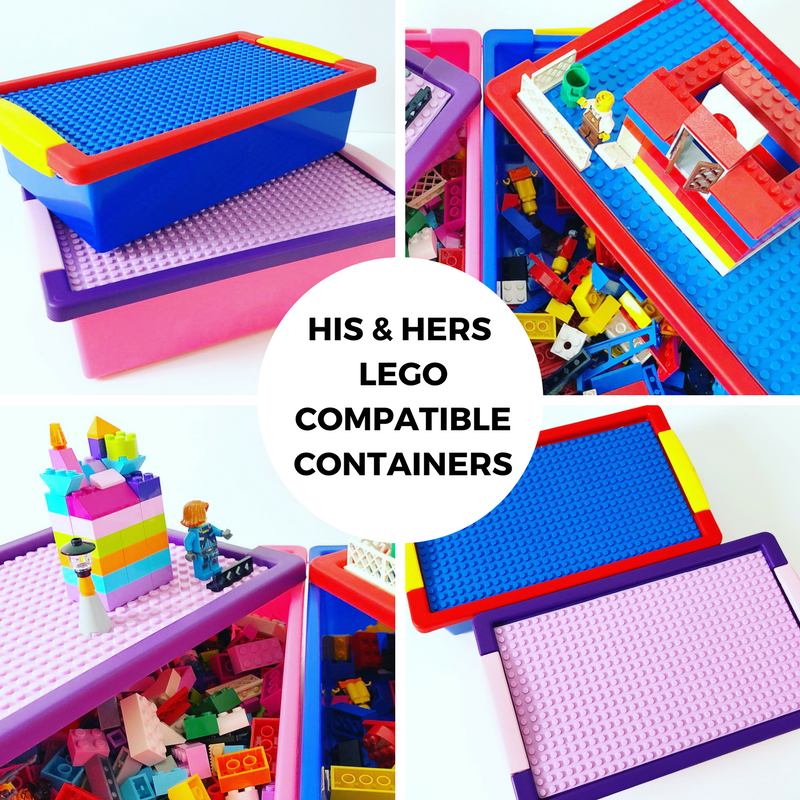 His & Hers LEGO Compatible Containers
