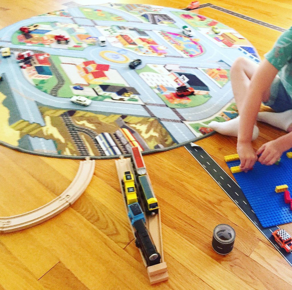 Learning Directions with the Funfield City Play Rug
