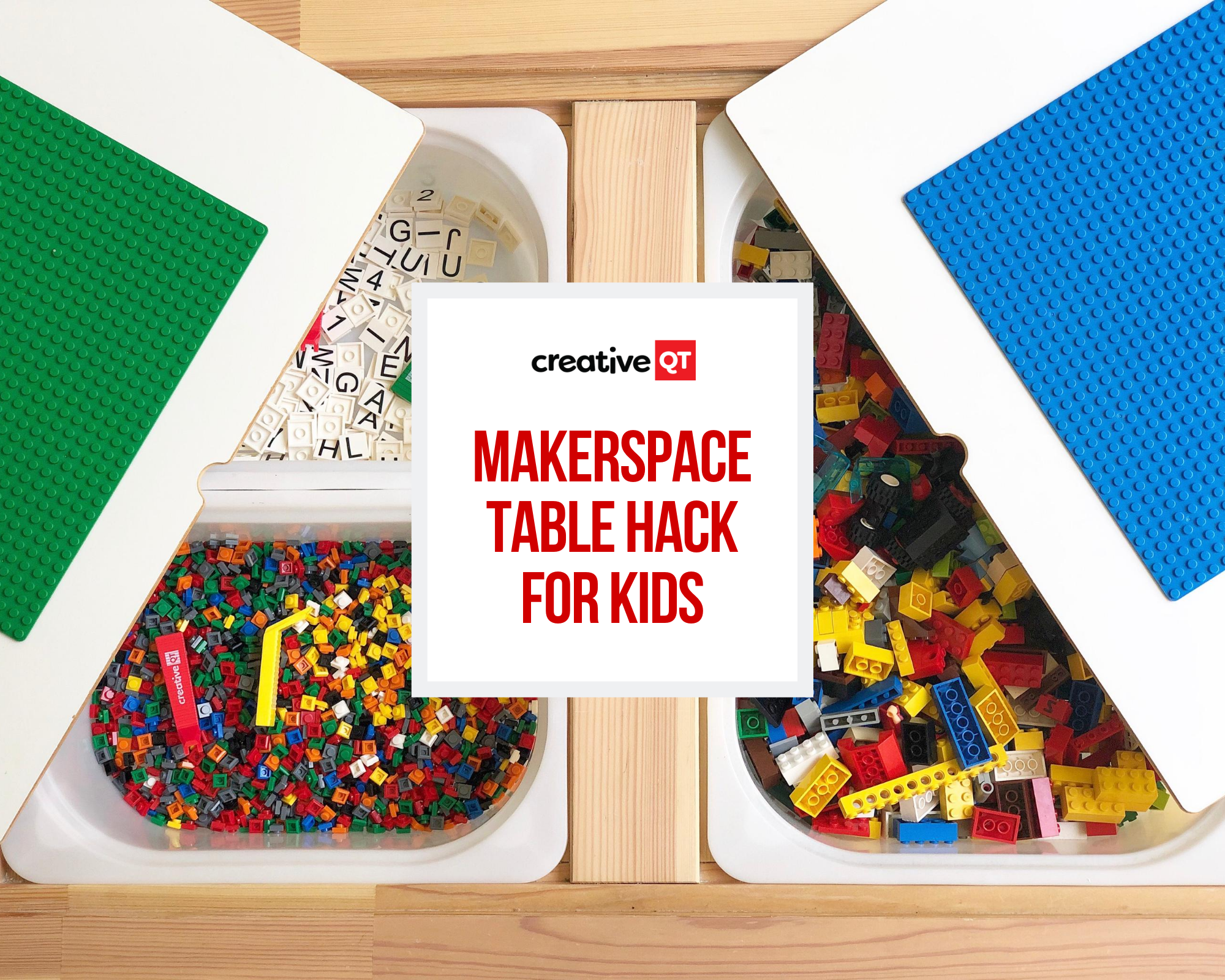 Makerspace Table Hack for Kids