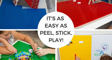 Our Peel 'n Stick Baseplates are as simple as Peel, Stick, PLAY!
