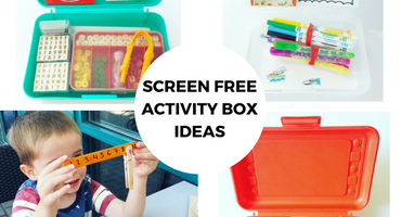 Screen Free Activity Box Ideas