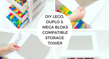 DIY LEGO, DUPLO & Mega Bloks Compatible Storage Tower